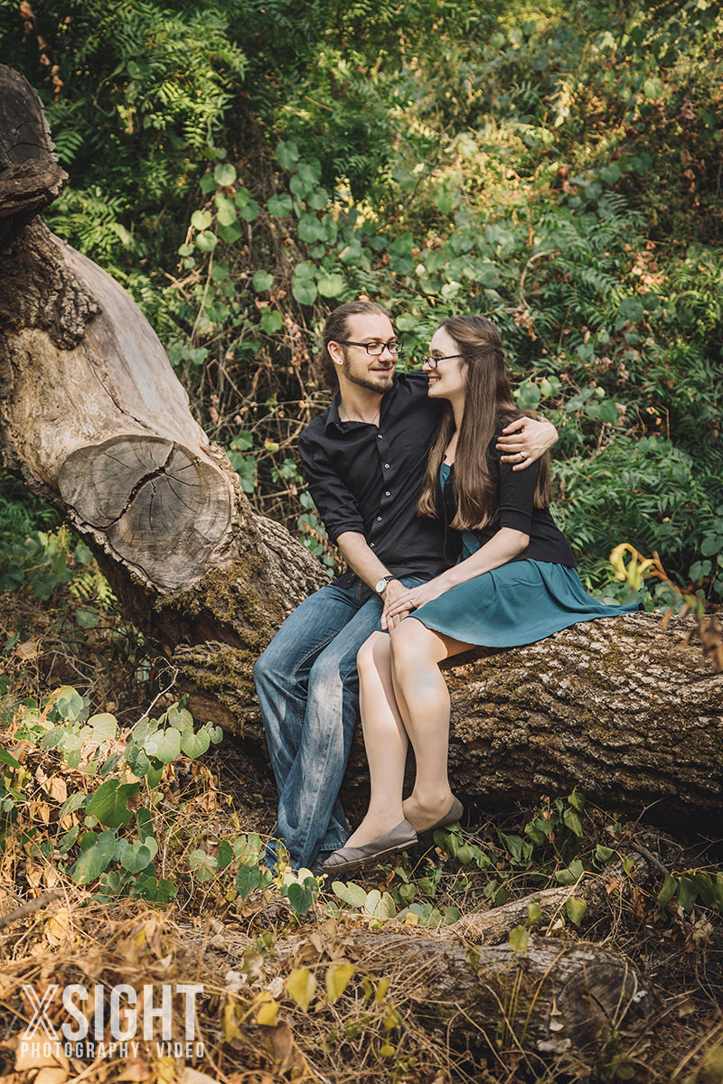 tree farm engagement photos in chico  ca